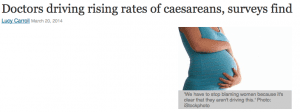 What is driving Australia's high caesarean rate?