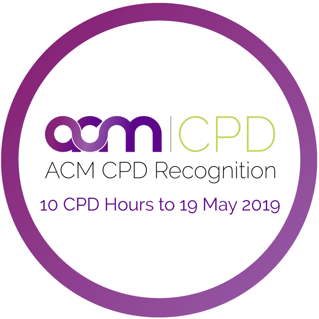 Australian College of Midwives Recognised to 10 CPD hours