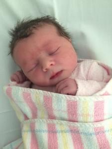 Scarlett Maya Rose, born 22 April 2015