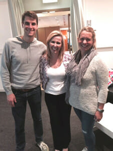 Melissa Spilsted with swimming champions Luke & Libby Trickett