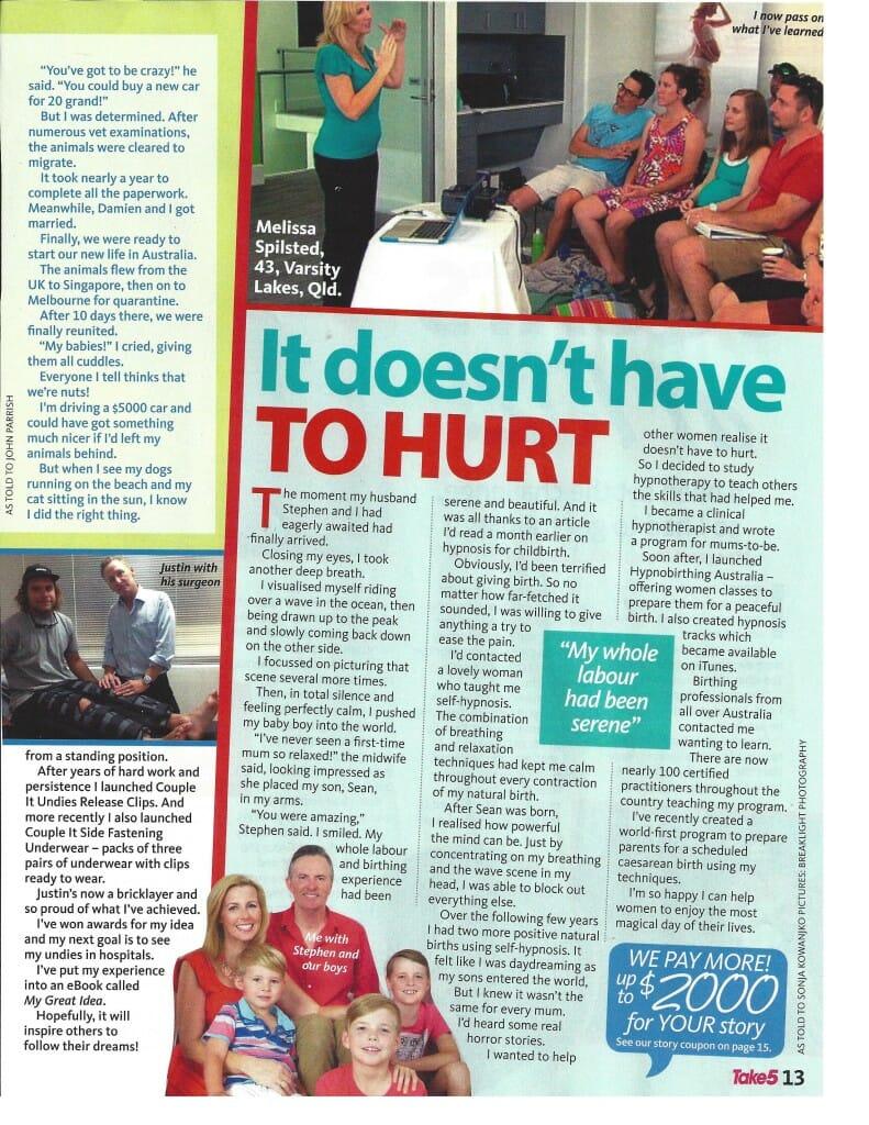 Take 5 Magazine Article Melissa Spilsted