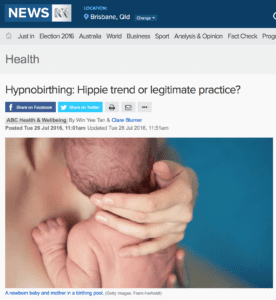 ABC Article 'Hypnobirthing: Hippie Trend or Legitimate Practice?'