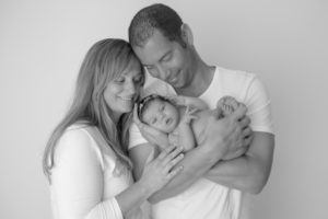 Hypnobirthing Australia parents holding baby after their successful VBAC