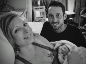 VBAC Hypnobirthing Couple Holding Their Newborn Baby