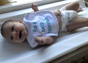 Melissa & Yasmins baby girl and Hypnobub Navy