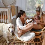 Melissa & Yasmin with baby Navy