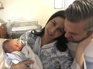 Laura and Mark after their beautiful hypnobirth