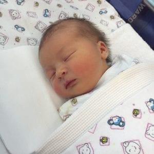 Picture of baby Minerva sleeping
